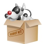 Artificial Intelligence Robot Dog Cartoon Vector Character AKA HERB - Box