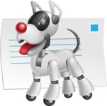 Artificial Intelligence Robot Dog Cartoon Vector Character AKA HERB - Mail