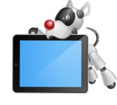 Artificial Intelligence Robot Dog Cartoon Vector Character AKA HERB - iPad 2