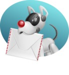 Artificial Intelligence Robot Dog Cartoon Vector Character AKA HERB - Shape4