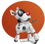 Artificial Intelligence Robot Dog Cartoon Vector Character AKA HERB - Shape9