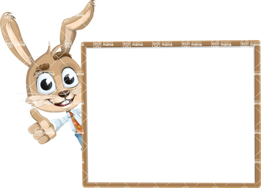 Cute Bunny Cartoon Vector Character AKA Bernie the Businessman - Presentation 5