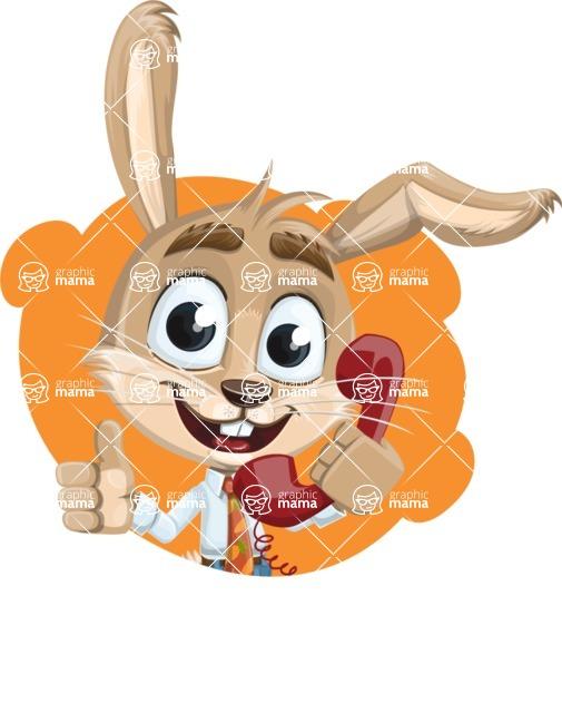 Cute Bunny Cartoon Vector Character AKA Bernie the Businessman - Shape 1