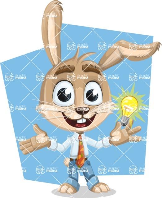 Cute Bunny Cartoon Vector Character AKA Bernie the Businessman - Shape 7