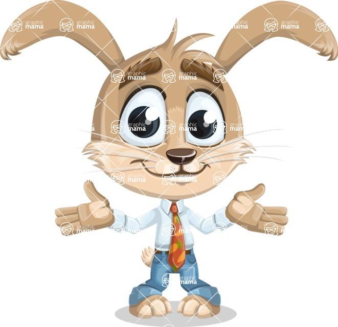 Cute Bunny Cartoon Vector Character AKA Bernie the Businessman - Sorry