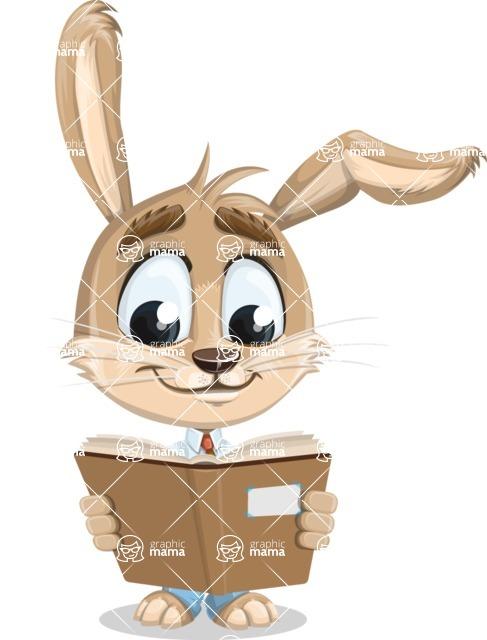 Cute Bunny Cartoon Vector Character AKA Bernie the Businessman - Book 1
