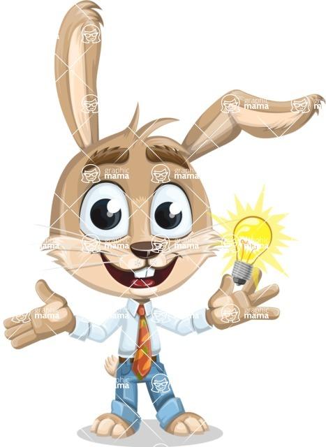 Cute Bunny Cartoon Vector Character AKA Bernie the Businessman - Idea 1
