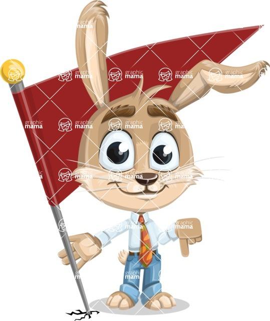 Cute Bunny Cartoon Vector Character AKA Bernie the Businessman - Checkpoint