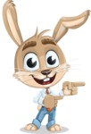 Cute Bunny Cartoon Vector Character AKA Bernie the Businessman - Point 2
