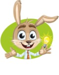 Cute Bunny Cartoon Vector Character AKA Bernie the Businessman - Shape 2