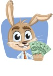 Cute Bunny Cartoon Vector Character AKA Bernie the Businessman - Shape 4