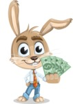 Cute Bunny Cartoon Vector Character AKA Bernie the Businessman - Show me  the Money