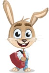 Cute Bunny Cartoon Vector Character AKA Bernie the Businessman - Travel 2