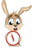 Cute Bunny Cartoon Vector Character AKA Bernie the Businessman - Time is Yours