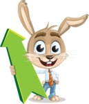 Cute Bunny Cartoon Vector Character AKA Bernie the Businessman - Pointer 1