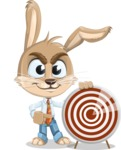 Cute Bunny Cartoon Vector Character AKA Bernie the Businessman - Target