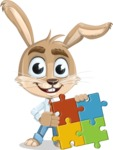Cute Bunny Cartoon Vector Character AKA Bernie the Businessman - Puzzle