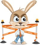 Cute Bunny Cartoon Vector Character AKA Bernie the Businessman - Under Construction 2