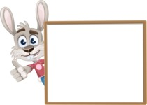 Grey Bunny Cartoon Vector Character AKA Choppy the Casual Bunny - Presentation 5