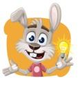 Grey Bunny Cartoon Vector Character AKA Choppy the Casual Bunny - Shape 4