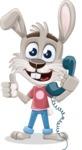 Grey Bunny Cartoon Vector Character AKA Choppy the Casual Bunny - Support