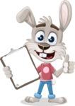 Grey Bunny Cartoon Vector Character AKA Choppy the Casual Bunny - Notepad 1