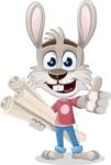 Grey Bunny Cartoon Vector Character AKA Choppy the Casual Bunny - Plans