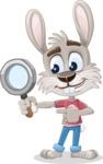 Grey Bunny Cartoon Vector Character AKA Choppy the Casual Bunny - Search