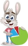 Grey Bunny Cartoon Vector Character AKA Choppy the Casual Bunny - Chart