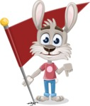 Grey Bunny Cartoon Vector Character AKA Choppy the Casual Bunny - Checkpoint