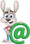 Grey Bunny Cartoon Vector Character AKA Choppy the Casual Bunny - Email