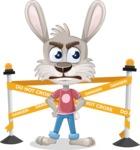 Grey Bunny Cartoon Vector Character AKA Choppy the Casual Bunny - Under Construction 2