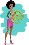 Modern African-American Girl Cartoon Character - shape12