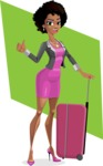 Modern African-American Girl Cartoon Character - shape6