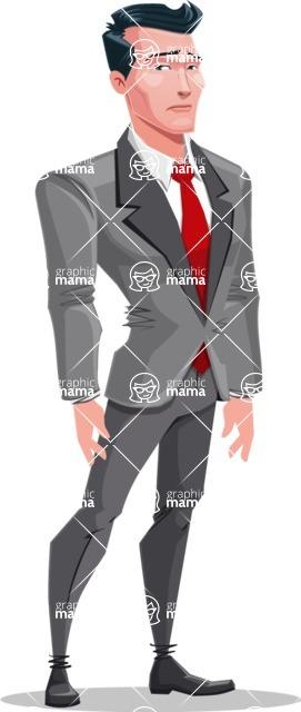 Modern Flat Style Businessman Cartoon Character - Feeling sad