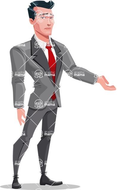 Modern Flat Style Businessman Cartoon Character - Feeling sorry