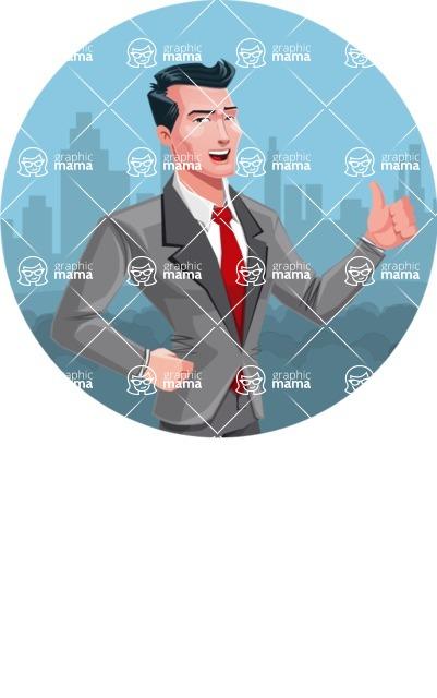Modern Flat Style Businessman Cartoon Character - shape1