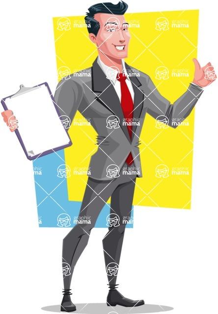 Modern Flat Style Businessman Cartoon Character - shape10