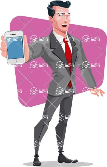 Modern Flat Style Businessman Cartoon Character - shape11