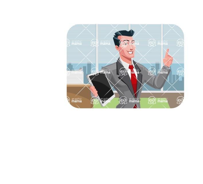 Modern Flat Style Businessman Cartoon Character - shape2