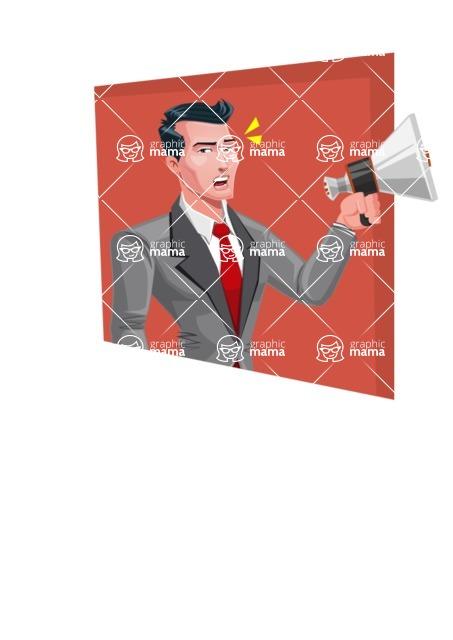 Modern Flat Style Businessman Cartoon Character - shape3