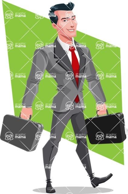 Modern Flat Style Businessman Cartoon Character - shape6
