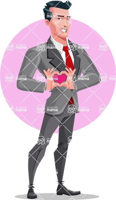Modern Flat Style Businessman Cartoon Character - shape8