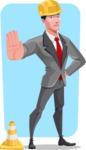 Modern Flat Style Businessman Cartoon Character - shape7