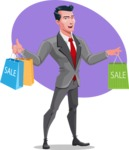 Modern Flat Style Businessman Cartoon Character - shape9