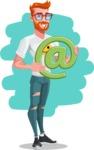 Modern Style Casual Man Cartoon Character - shape12
