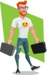 Modern Style Casual Man Cartoon Character - shape6