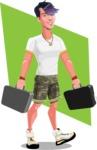 Modern Teenager Vector Character - shape6