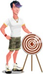 Modern Teenager Vector Character - With target
