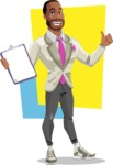 Modern Style African-American Man Vector Character - shape10